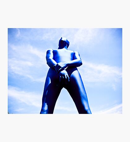 A Day in Blue Zentai lomo 06 Photographic Print