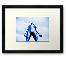 A Day in Blue Zentai lomo 07 Framed Print