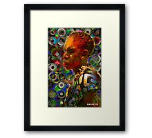 African tribal man Framed Print