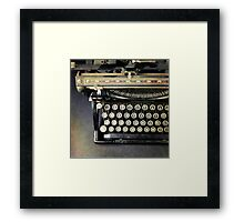Typewriter From Above Framed Print
