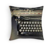 Typewriter From Above Throw Pillow