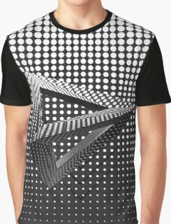 Black & White Triangle Pattern Graphic T-Shirt