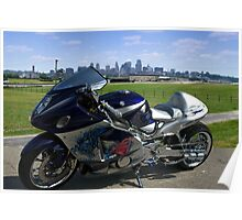 2004 Suzuki Hayabusa GSX 1300 with NOS Custom Motorcycle Poster