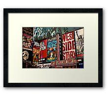New York Entertains Framed Print