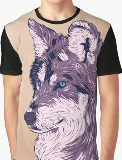 Blue eyed wolf Graphic T-Shirt