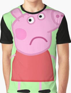 Sad Peppa Graphic T-Shirt