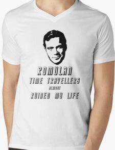 Romulan time travellers almost ruined my life  Mens V-Neck T-Shirt