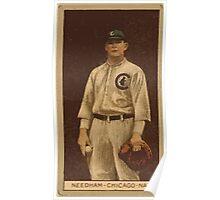 Benjamin K Edwards Collection Thomas Needham Chicago Cubs baseball card portrait Poster