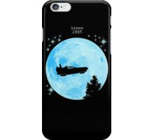 Ufo Car Delorean - Back to the future iPhone Case/Skin