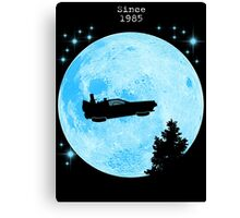 Ufo Car Delorean - Back to the future Canvas Print