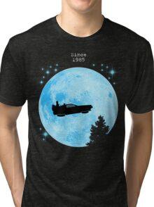 Ufo Car Delorean - Back to the future Tri-blend T-Shirt
