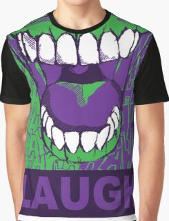 LAUGH purple Graphic T-Shirt