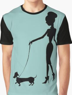 Flaunting The Pooch (teal) Graphic T-Shirt