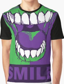 SMILE purple Graphic T-Shirt