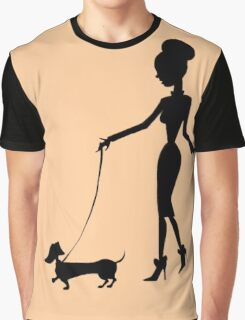 Flaunting The Pooch (peach) Graphic T-Shirt
