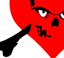 I heart zombies Sticker