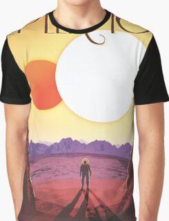 Nasa Travel Poster-Kepler-16b Graphic T-Shirt