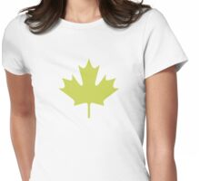 Maple leaves - t-shirt Womens Fitted T-Shirt