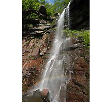 Side view of Lower Kaaterskill falls with rainbow, Upstate New York Photographic Print
