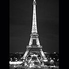 Eiffel Tower in Black and White by Heidi Hermes