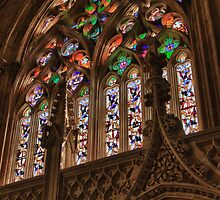 Stained Glass Window, Batalha Monastery, Portugal by Tomas Abreu
