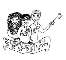 The Golden Trio Harry Potter Doodle Sketch Photographic Print