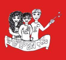 The Golden Trio Harry Potter Doodle Sketch Kids Tee