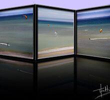Surfer in the sea by Taschja Hattingh