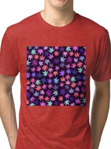 Pink Hempy Leaves Tri-blend T-Shirt