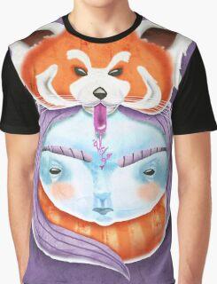 Huriyah & Red Panda Graphic T-Shirt