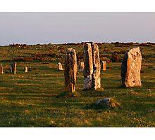 Hurlers Stone Circle Photographic Print