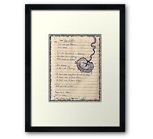 Pro-Choice Poetry Framed Print