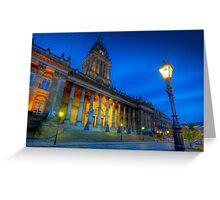 Leeds Town Hall at Dusk Greeting Card