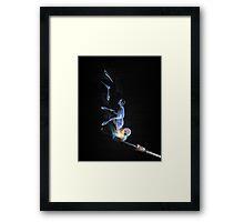 Juggling Smoke Framed Print