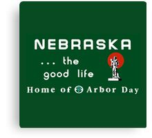 Welcome to Nebraska, Road Sign, USA  Canvas Print
