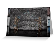 Juggling Graffiti Greeting Card