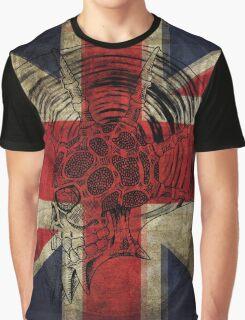 Union Jack Punk Skull - outline Graphic T-Shirt