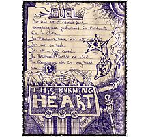 This Burning Heart Fuel Photographic Print