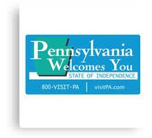 Welcome to Pennsylvania, Road Sign, USA  Canvas Print