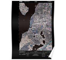 USGS Topo Map Washington State WA Steilacoom 20110422 TM Inverted Poster