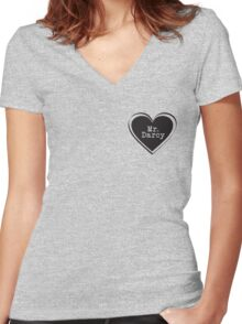 Mr. Darcy Women's Fitted V-Neck T-Shirt