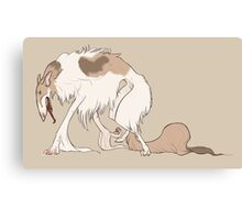Elegant Monstrous Borzoi Dog Canvas Print