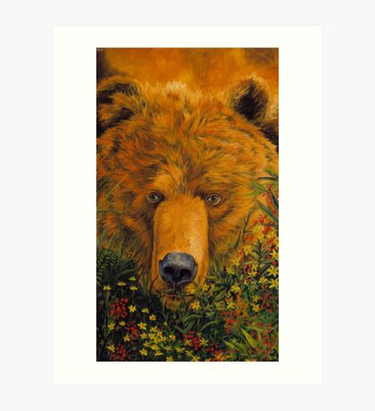 Theres a bear in there Art Print