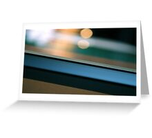 Abstract background with light spots and metal frame Greeting Card