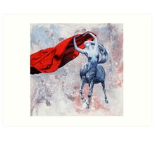 Unveiling the stallion Queen Art Print