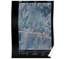 USGS Topo Map Washington State WA Prescott 20110404 TM Inverted Poster