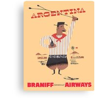 Braniff Argentina Poster Canvas Print