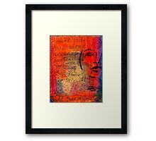 A Mind Cries Framed Print