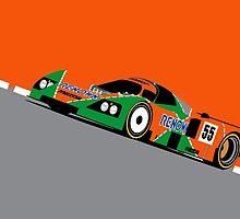 Mazda 787B 1991 Le Mans 24hr Winner by F1Profiles