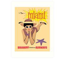 Braniff Miami Art Print